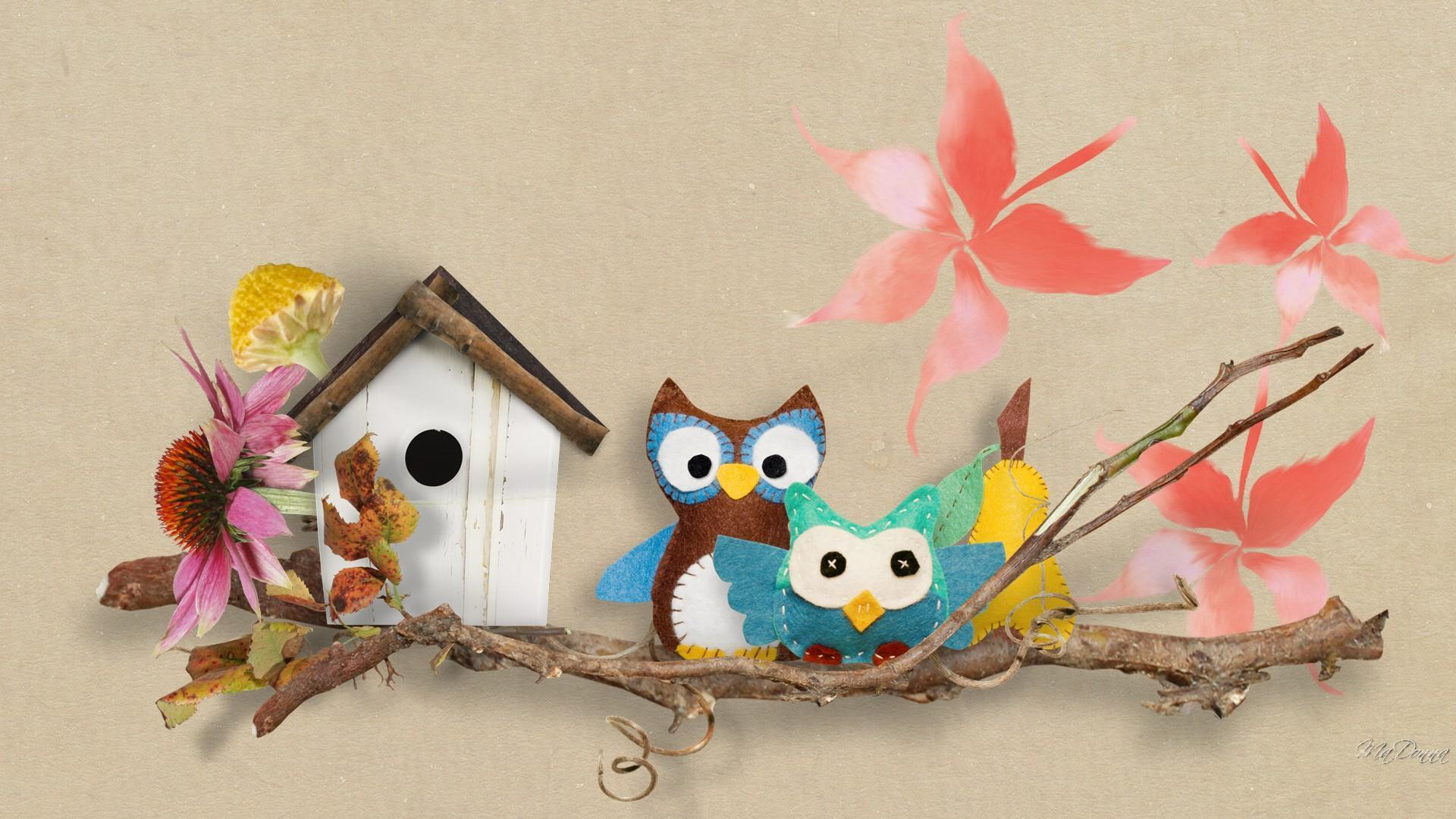 cute owl fall themed wallpapers - photo #6