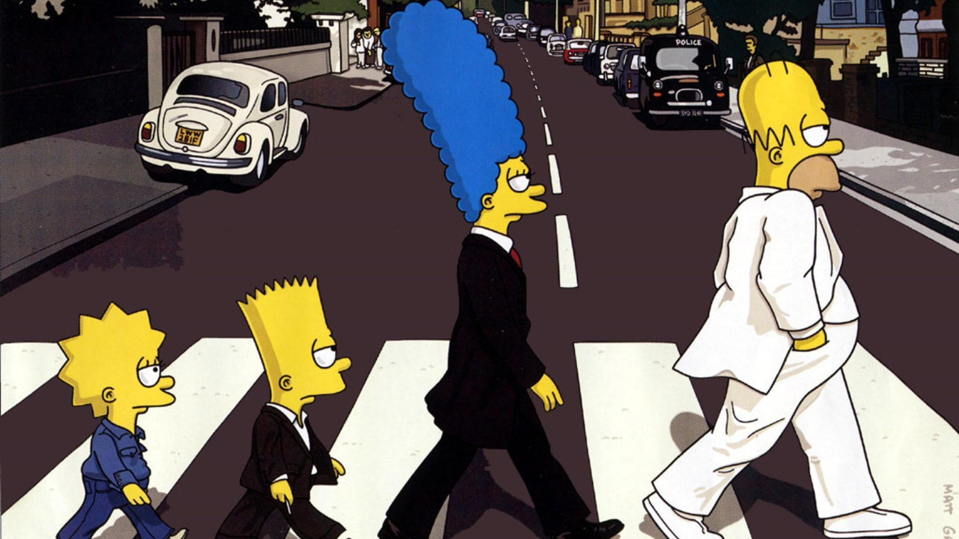 The simpsons abbey road wallpapers wallpaper cave - The simpsons abbey road wallpaper ...