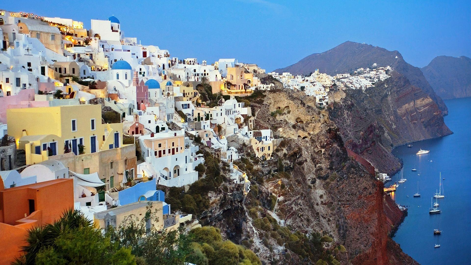 Santorini HD Wallpapers Wallpaper Backgrounds