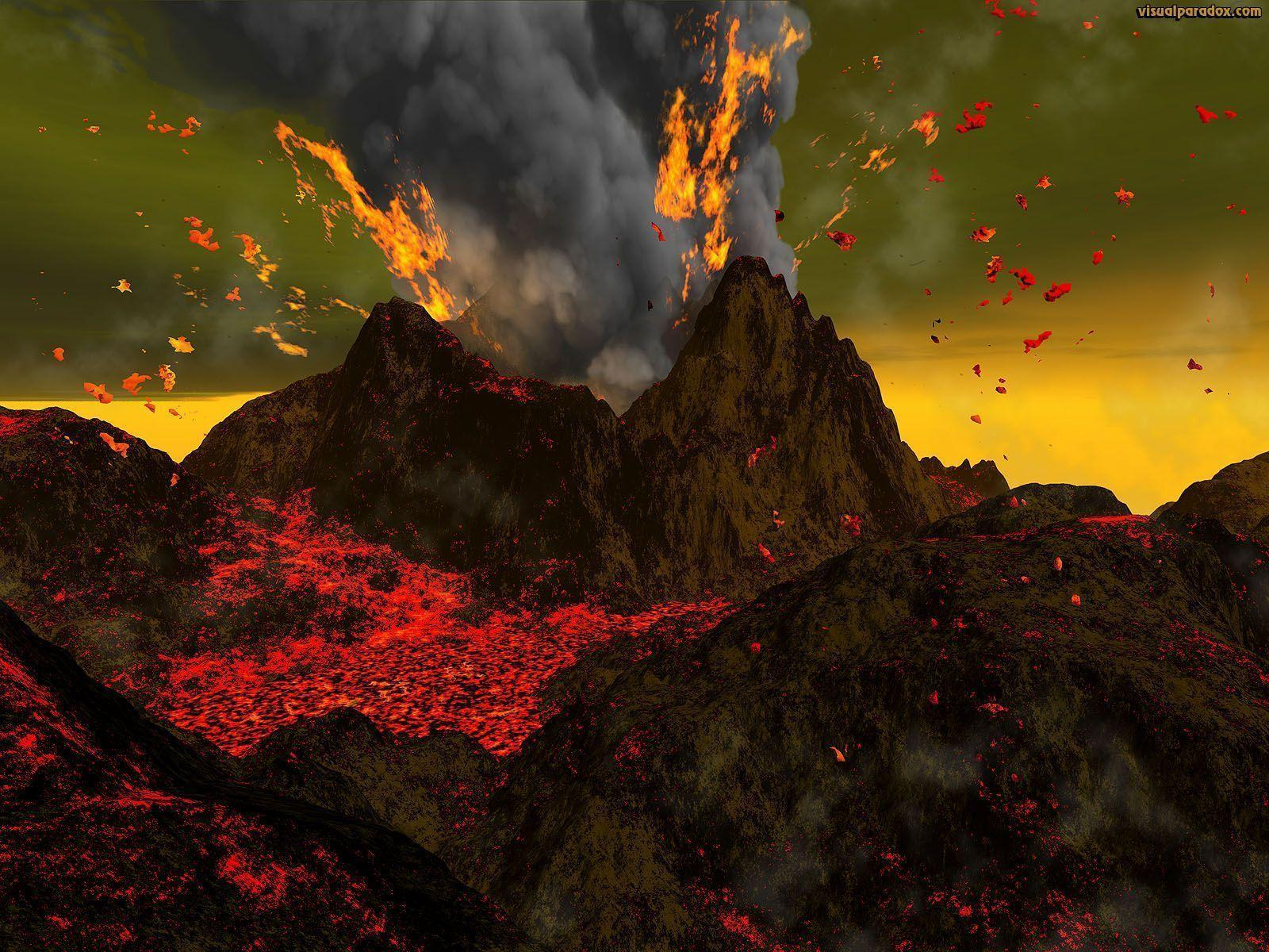 volcano eruption wallpaper hd - photo #27