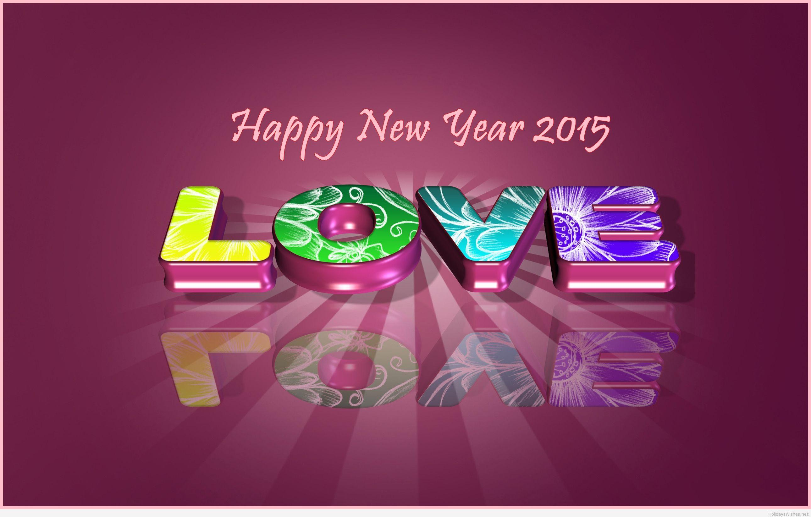 Love wallpapers new year 2015 image
