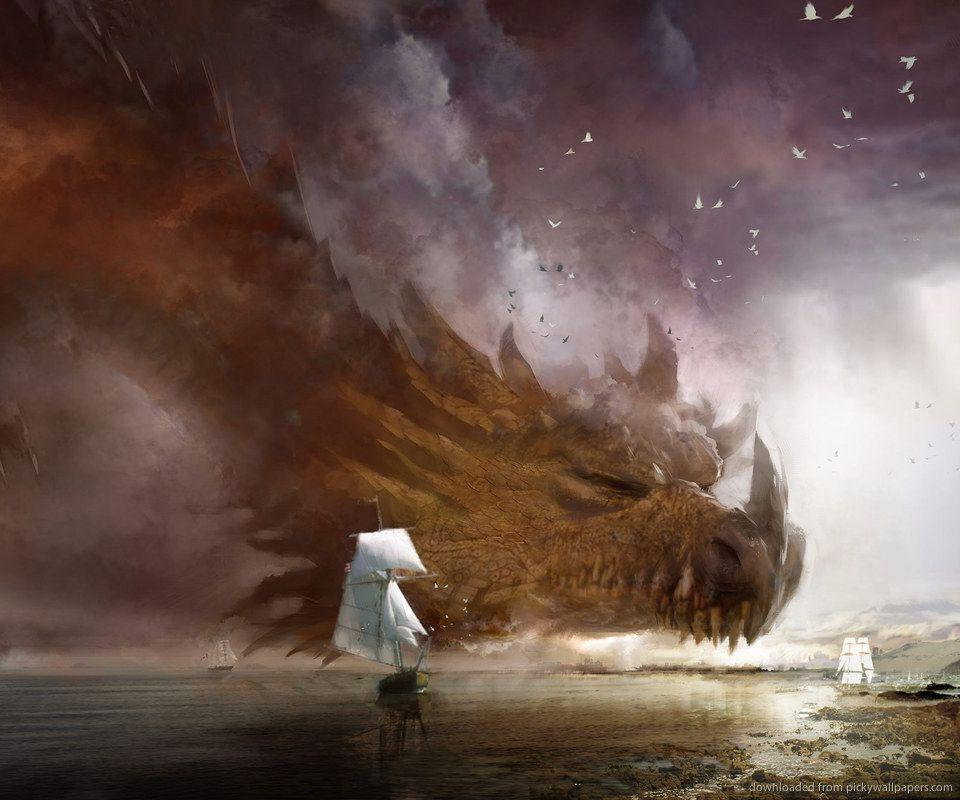 Download Dragon And Ship By Daniel Dociu Wallpapers For Samsung Epic