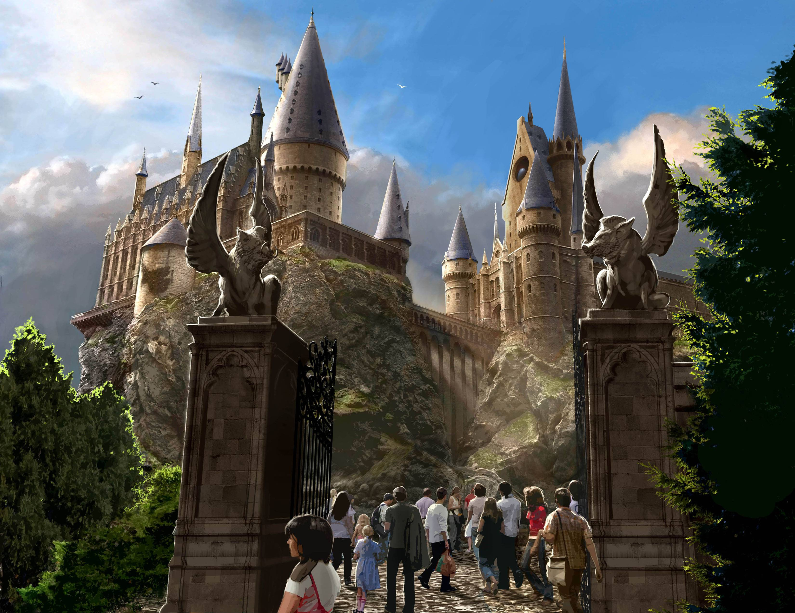 Hogwart&Castle Exterior Desktop Wallpapers