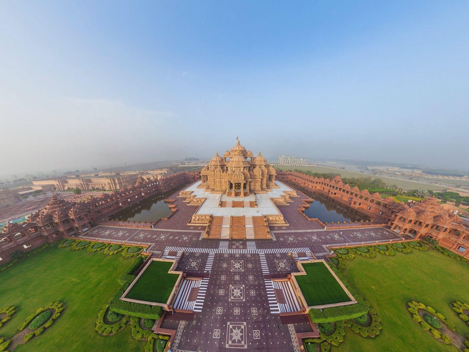 Swaminarayan Akshardham Hindu Temple in Delhi HD Wallpapers | HD ...