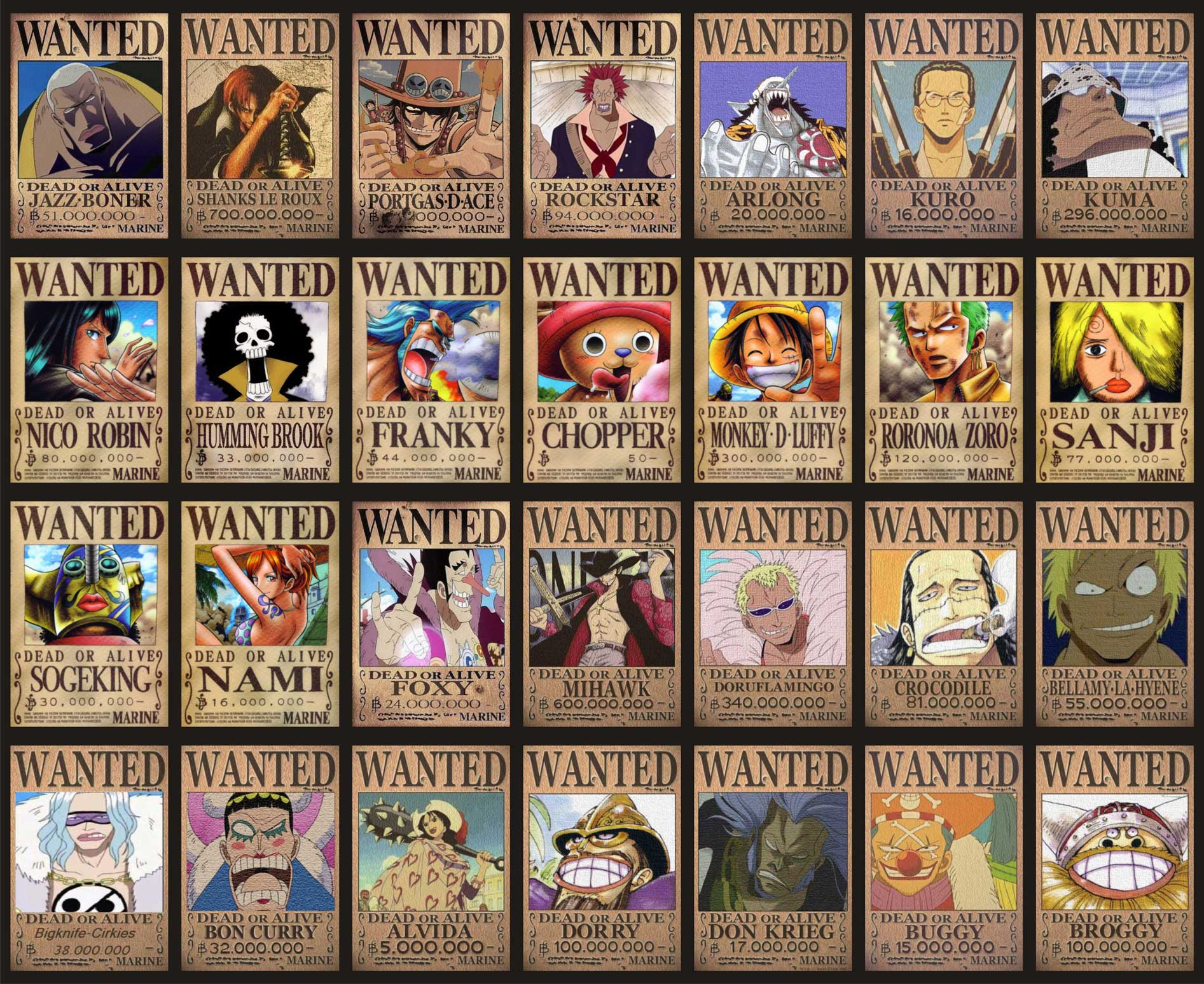 posters wanted one piece wallpaper 1080p hd wallpapers