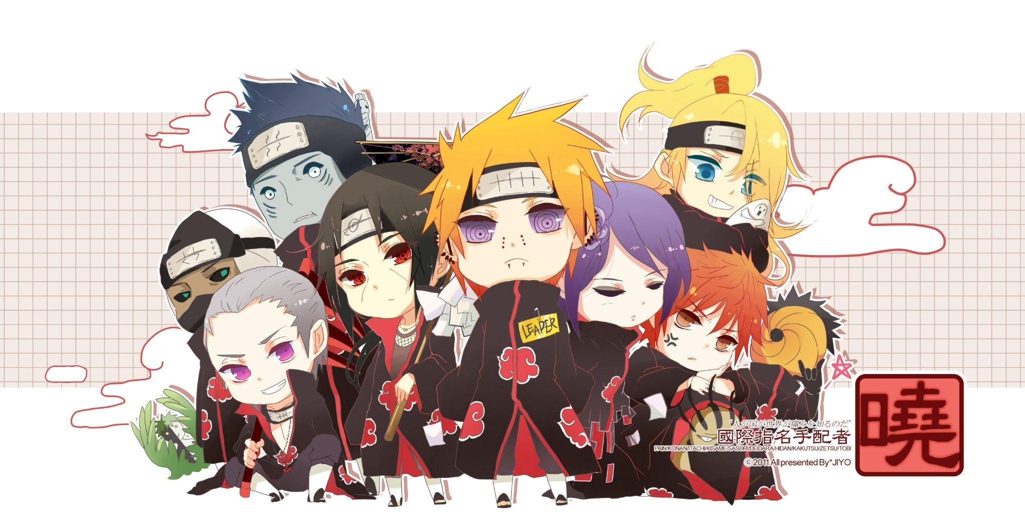 Akatsuki Member Chibi 0119 HD Wallpapers