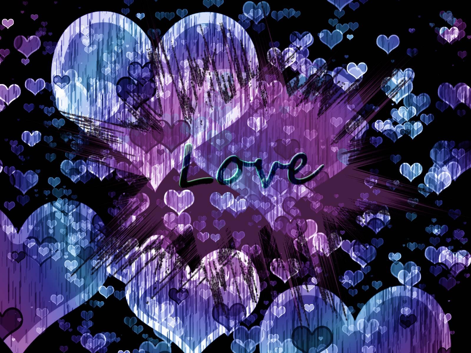 Purple And Black Hearts Wallpaper: Purple Love Wallpapers