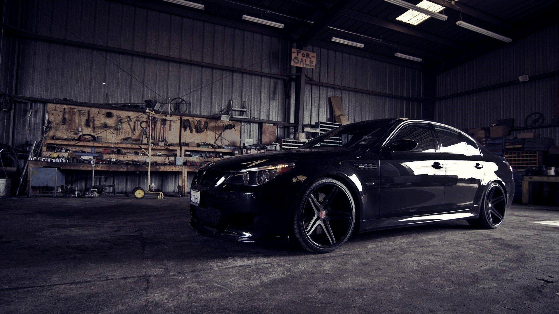 BMW M5 Garage Open Door Light HD Wallpapers