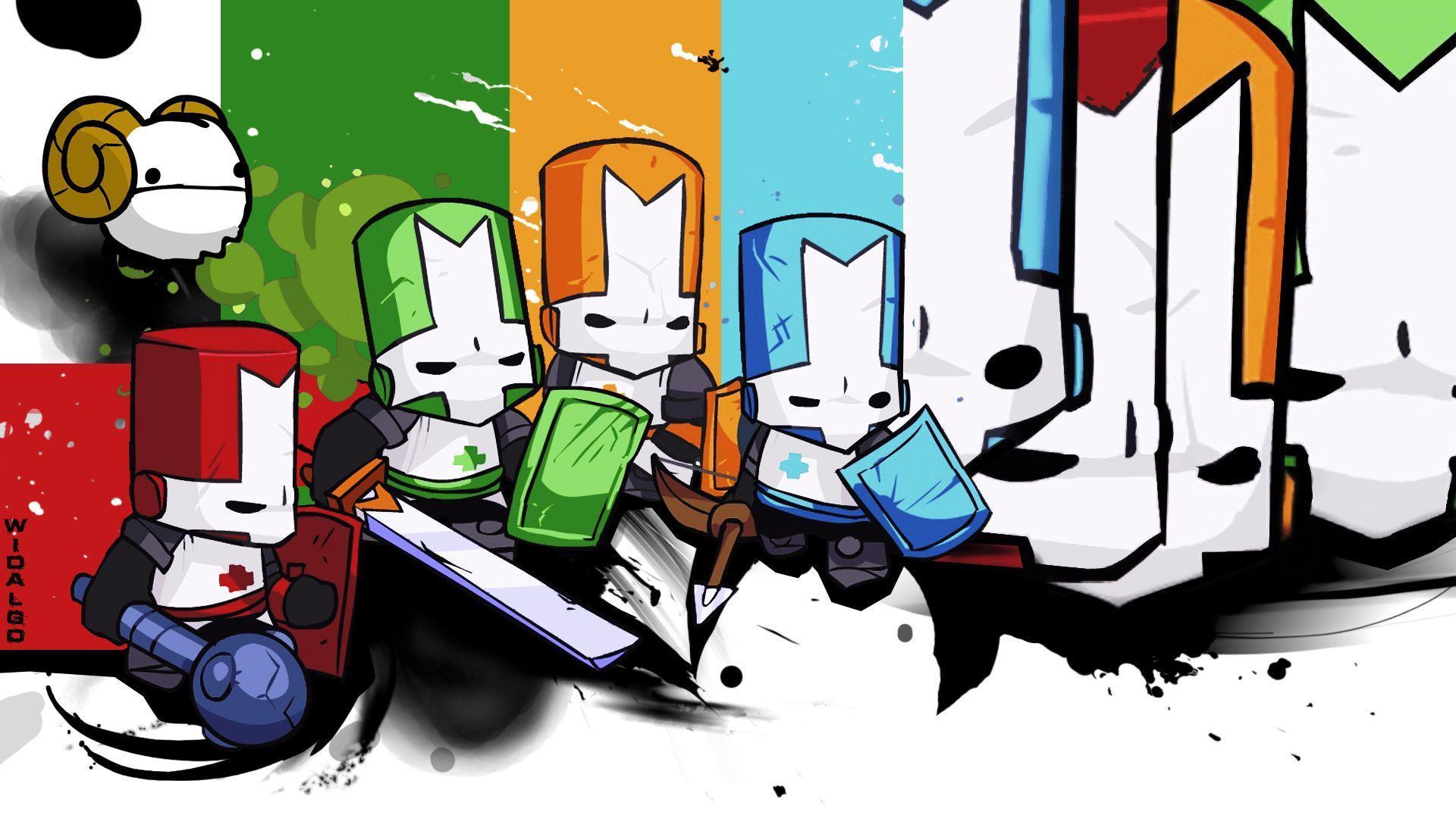 Castle Crash... Castle Crashers Orange Knight Minecraft Skin