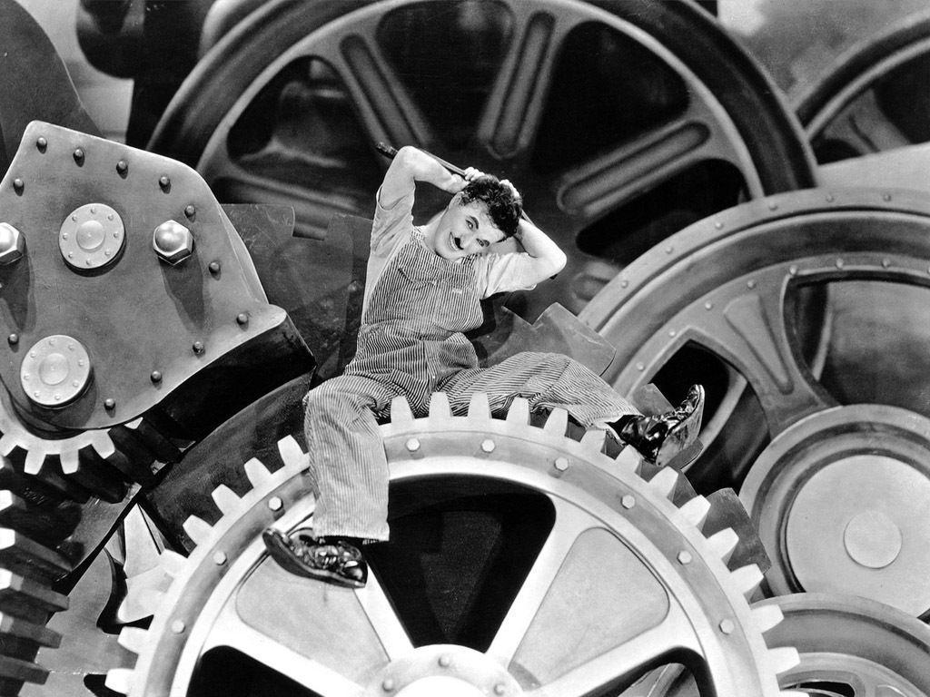 Charlie Chaplin in Modern Times Wallpapers