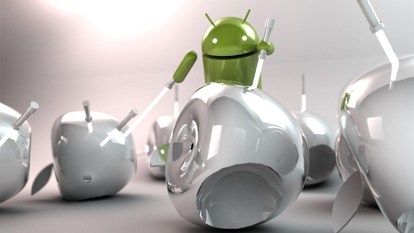 android vs apple-Android logo robotics Desktop Wallpapers ...