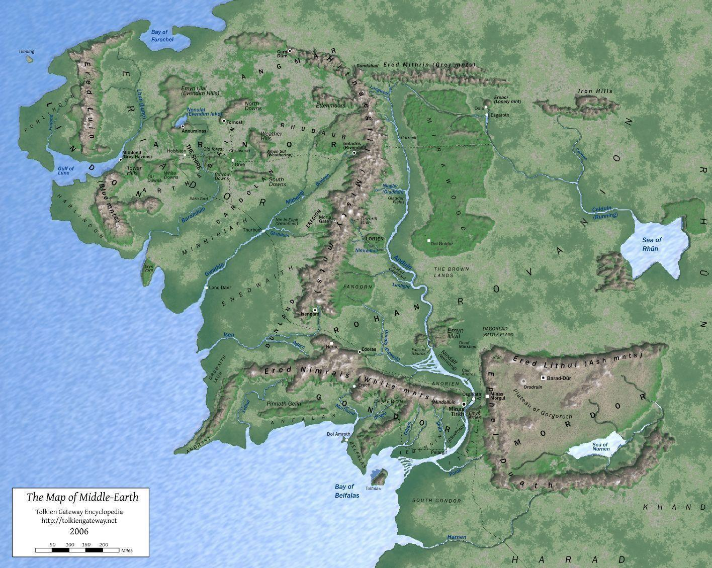 Map Of Middle Earth Pauline Baynes 1024 X 768 Wallpapers