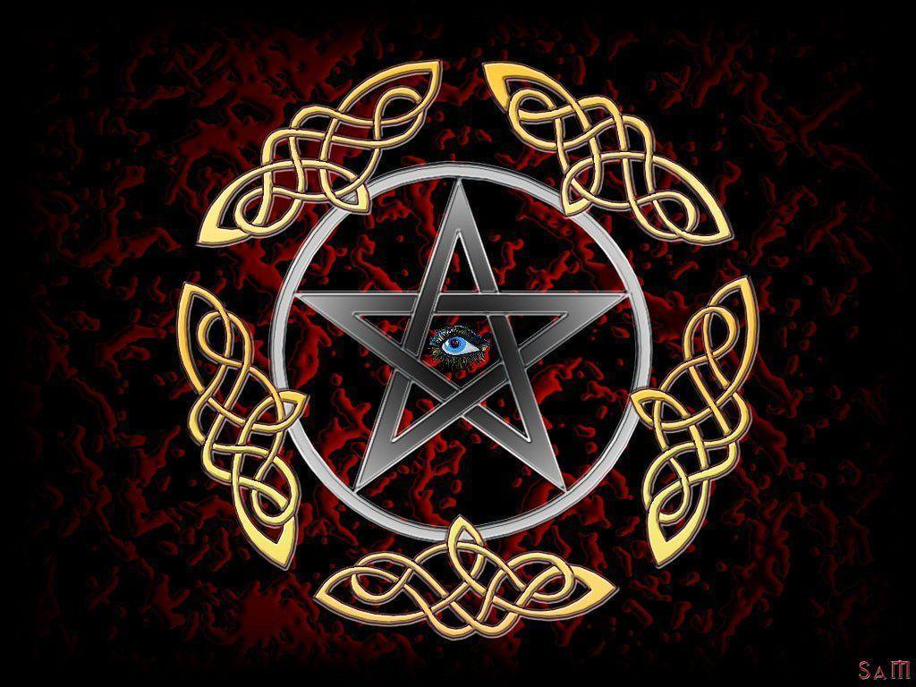 wiccan pentagram wallpaper -#main