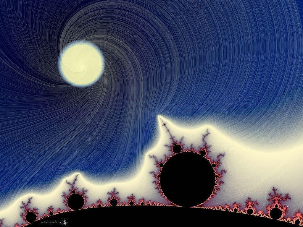 Moon Over Mandelbrot Wallpapers