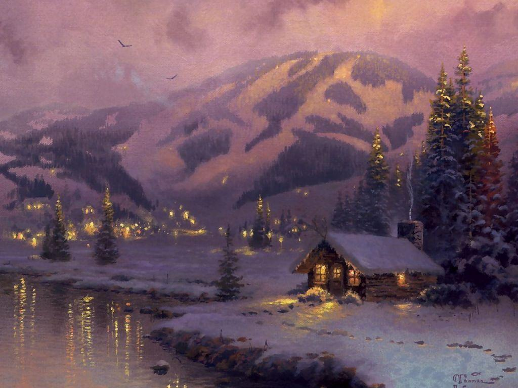 Thomas Kinkade Wallpaper Download The Free