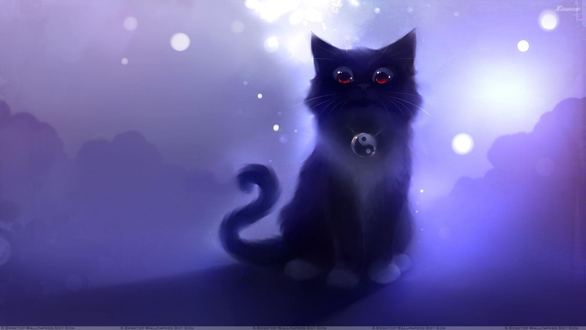 Cartoon cat wallpapers wallpaper cave - Anime cat wallpaper ...