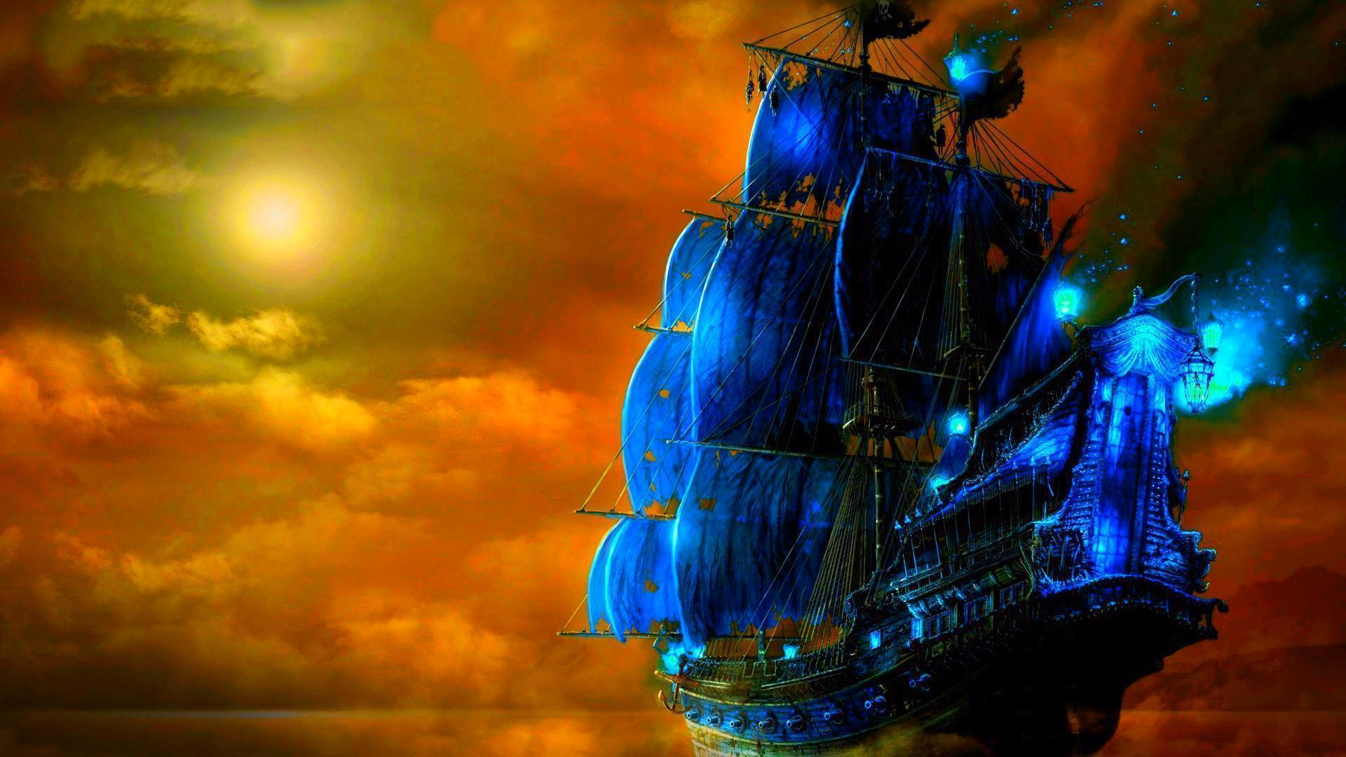 Pirate ship backgrounds wallpaper cave - Pirate background ...