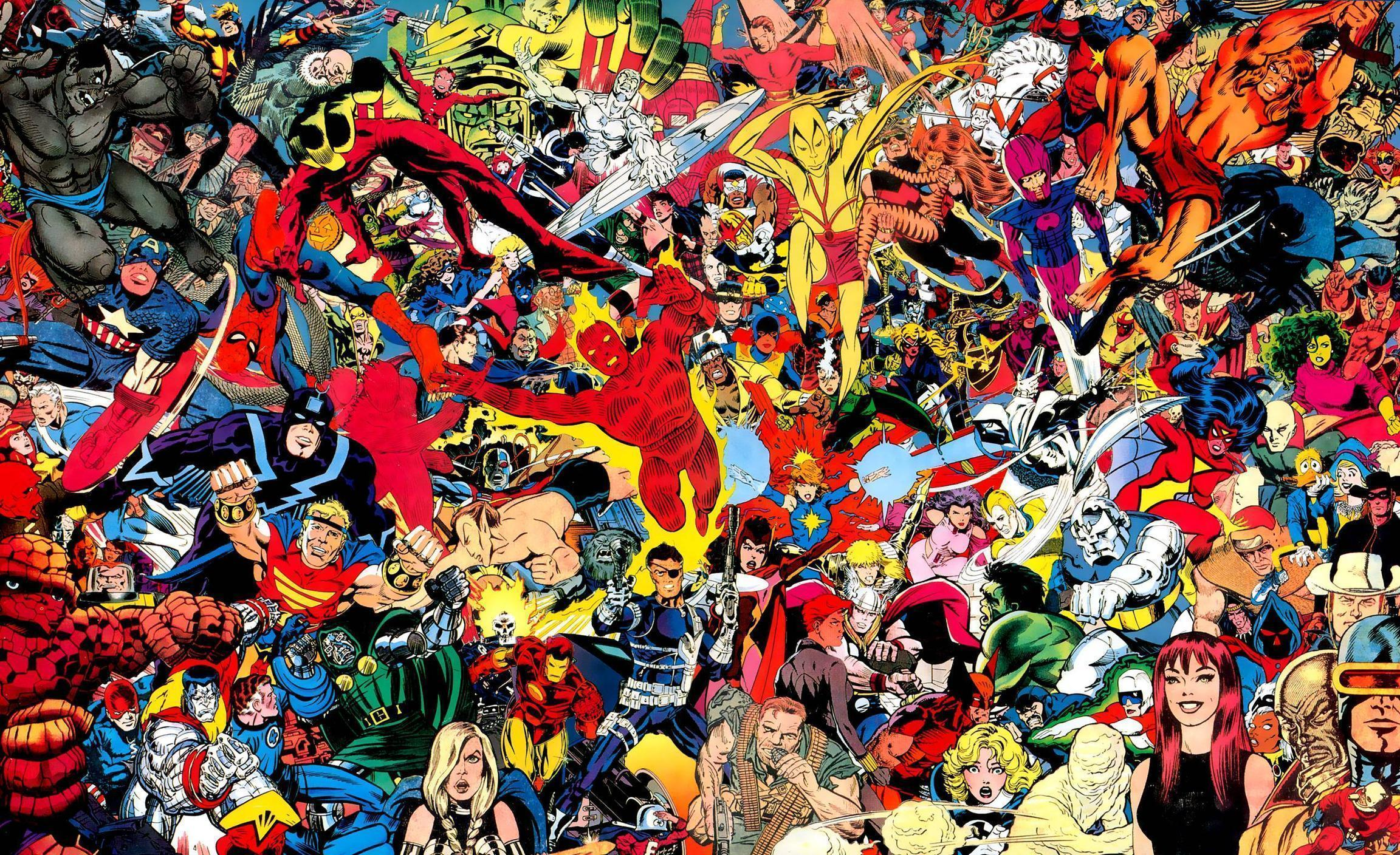 Marvel Wallpapers - Wallpaper Cave Vintage Comic Book Background