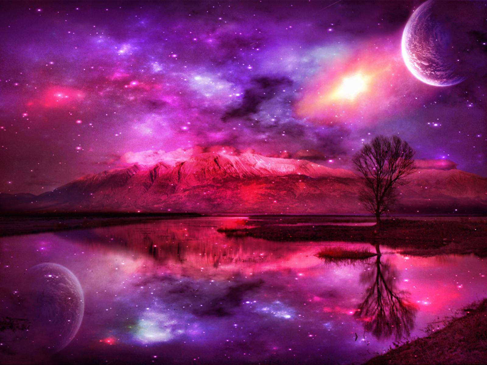 Fantasy space landscapes