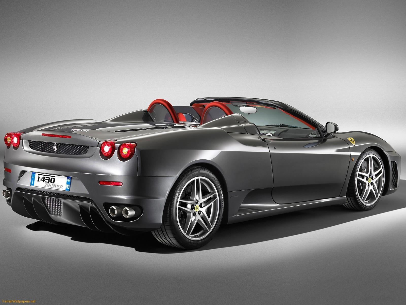 Wallpapers For > Black Ferrari F430 Spider Wallpapers