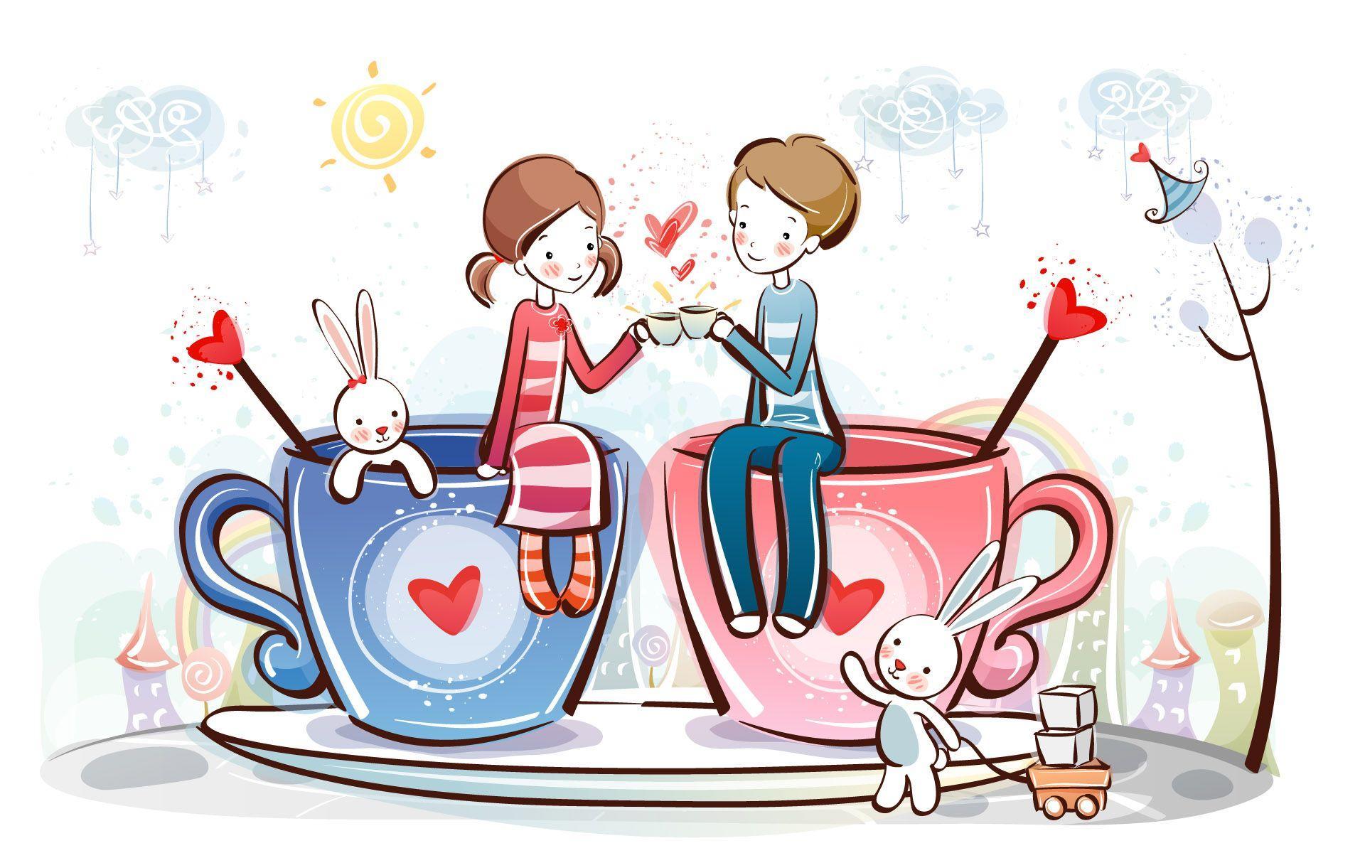 画像 : 可愛いカップルのpcデスクトップ壁紙&スマホ壁紙 画像(アニメ