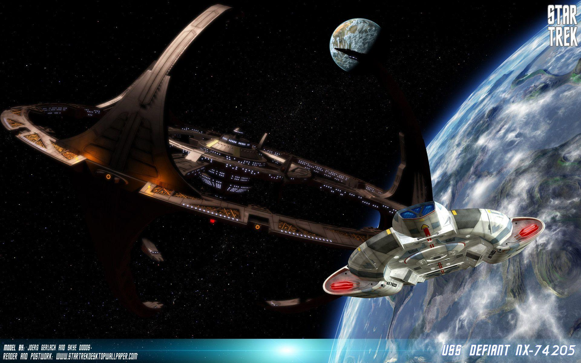 Star Trek Deep Space Nine USS Defiant, free Star Trek computer