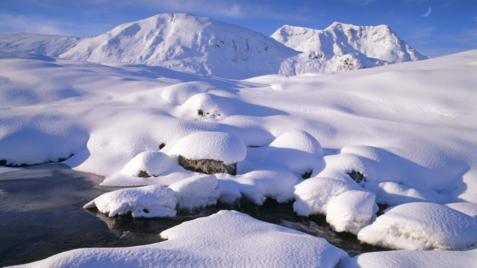 Wallpapers For > Beautiful Snow Scenery Wallpapers