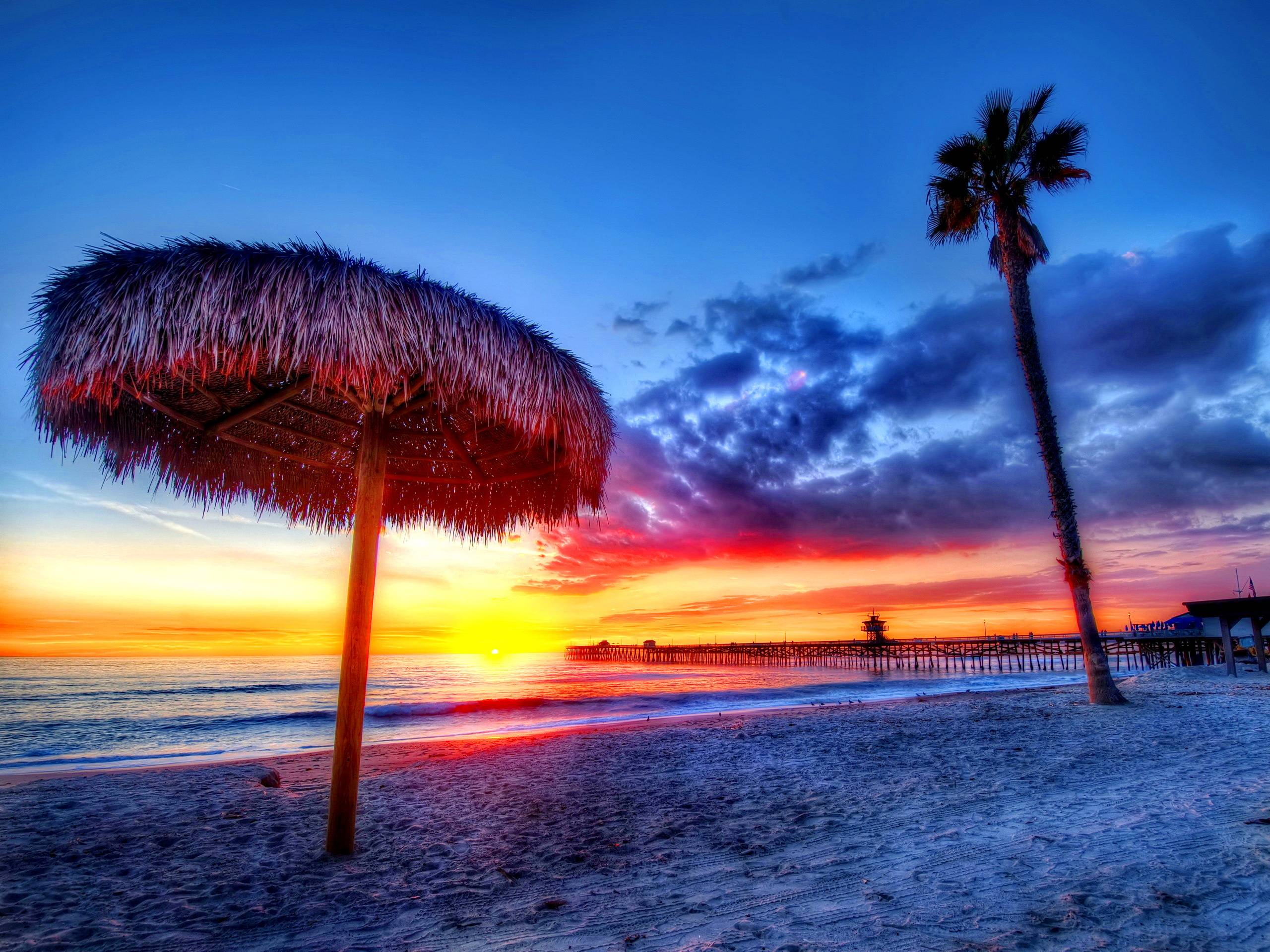tropical sunset backgrounds - photo #9