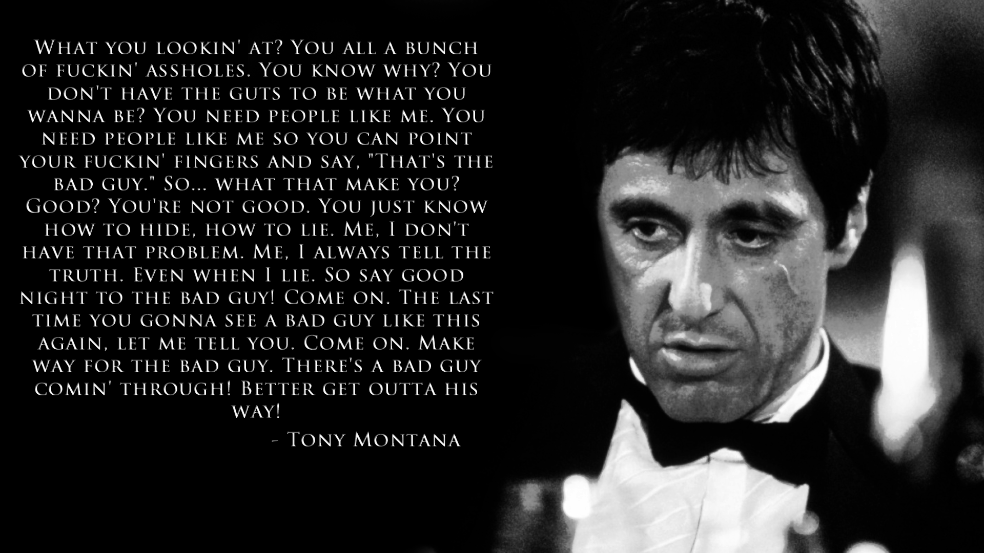 Free Scarface Wallpape... Al Pacino Speech