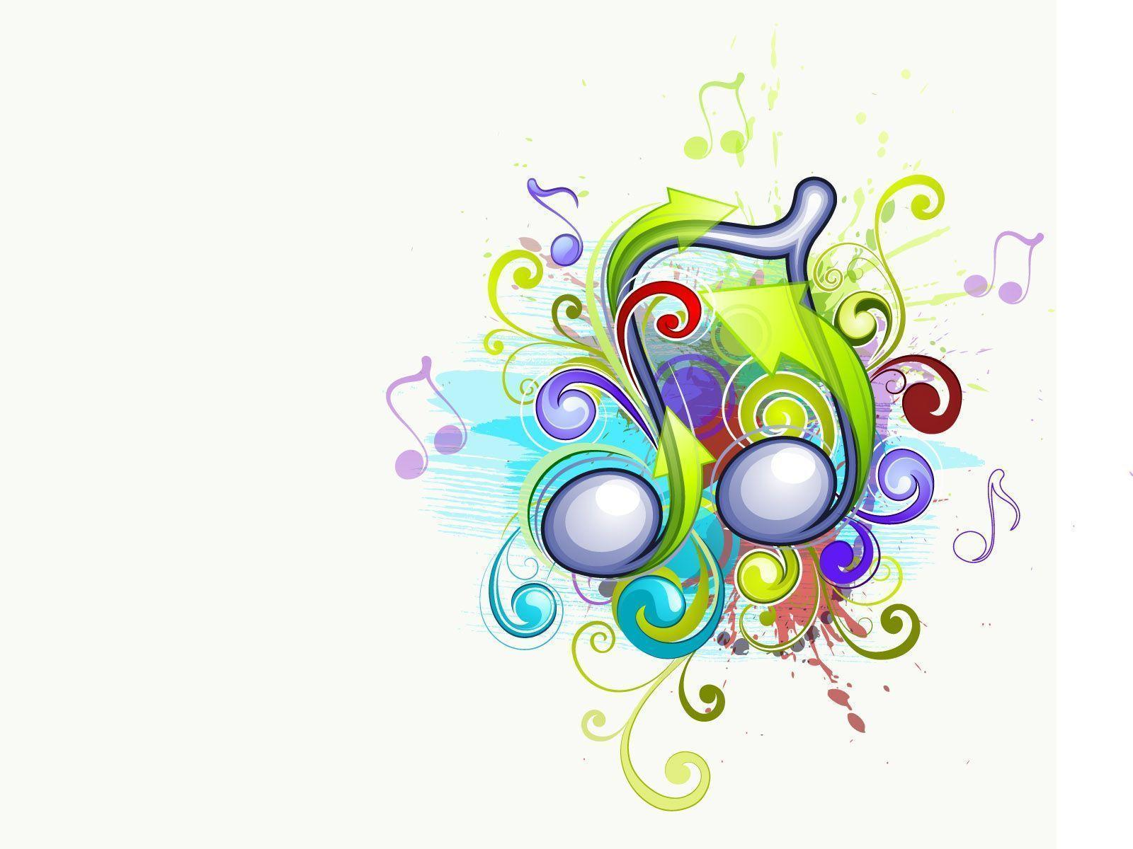 Abstract Musical Presentation Free PPT Backgrounds