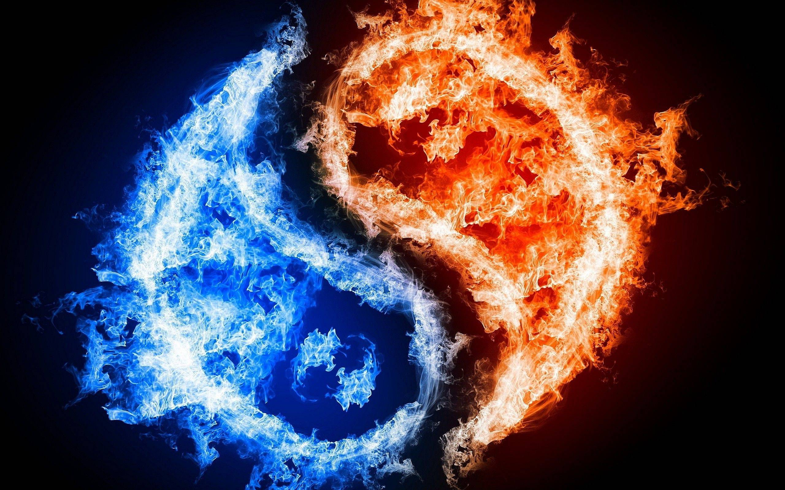 Yin Yang Fire Ice Wallpapers