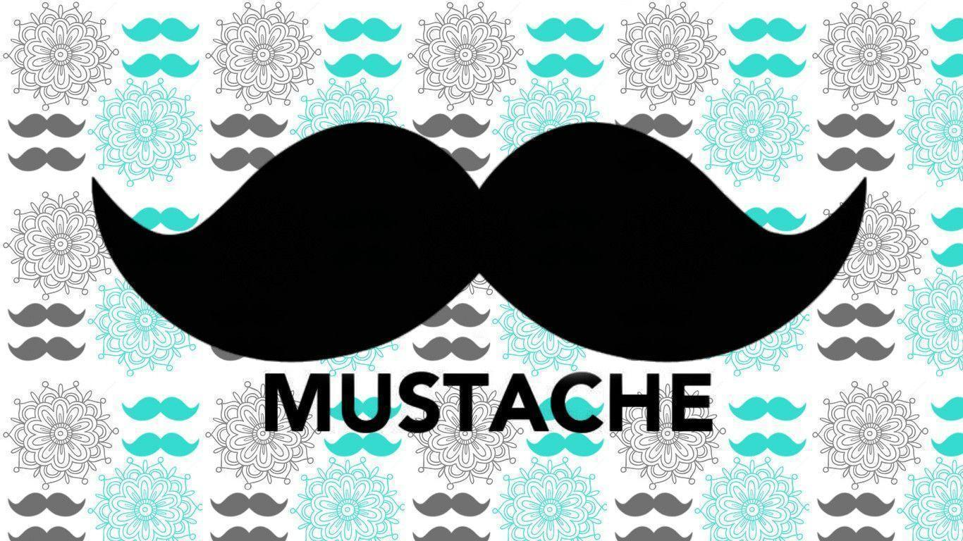 Pics For > Cute Mustache Background For Tumblr