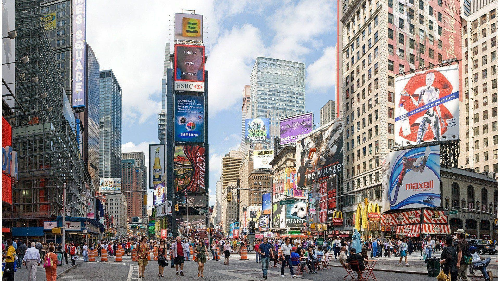 Times Square Wallpaper At Night Wallpaper | 4Wlp