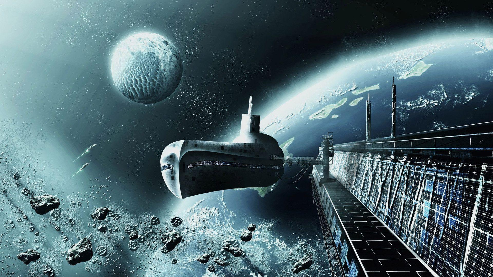 Submarine like spaceship wallpapers