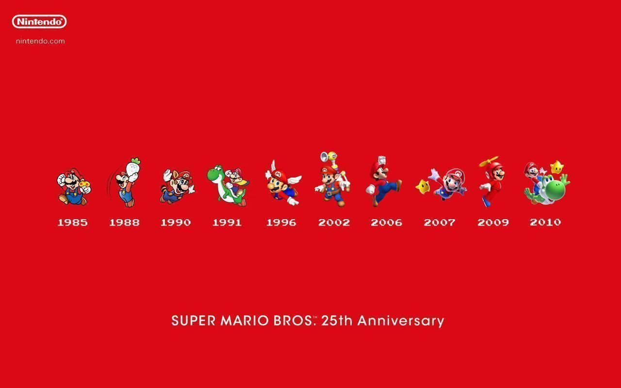 Celebrate Mario : Download Wallpapers