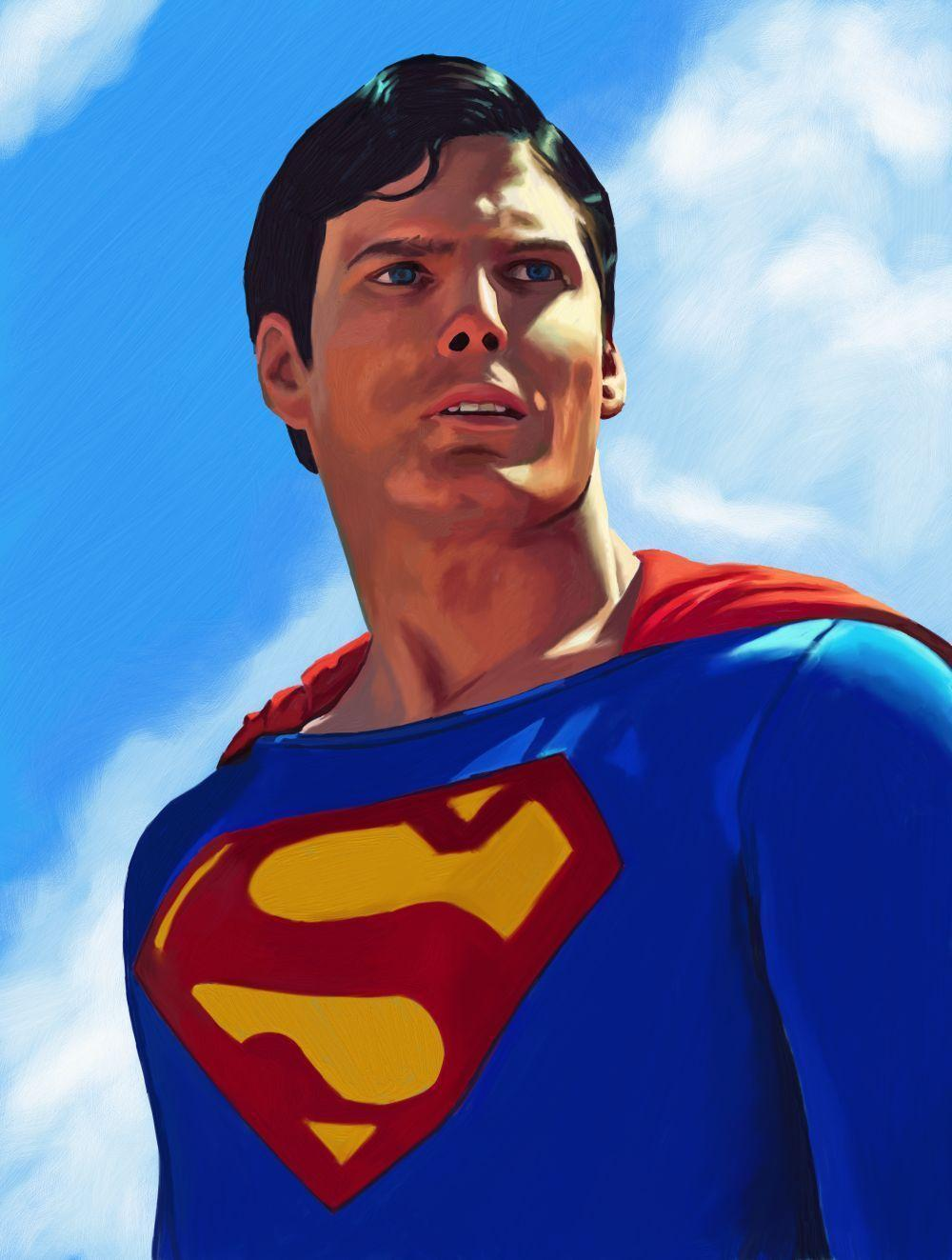 Christopher Reeve (Superman) by DrewLangston on DeviantArt
