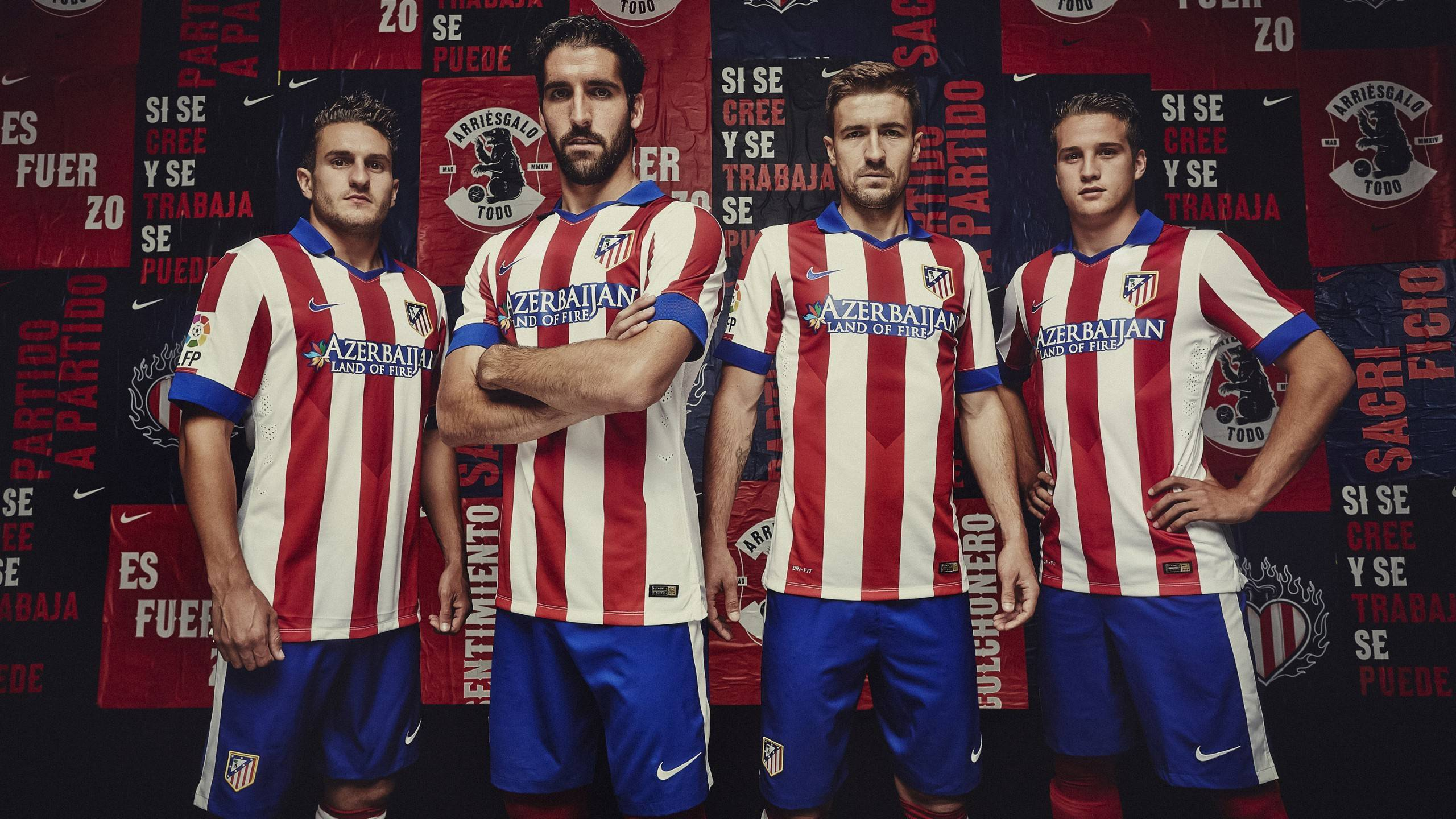 Atletico Madrid 2014 2015 Nike Home Kit Wallpaper Wide or HD