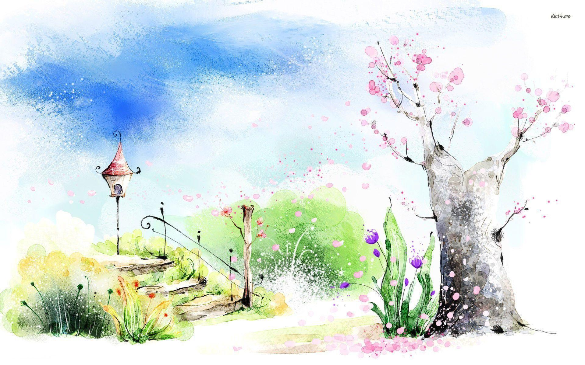 flower painting watercolor wallpaper - photo #44