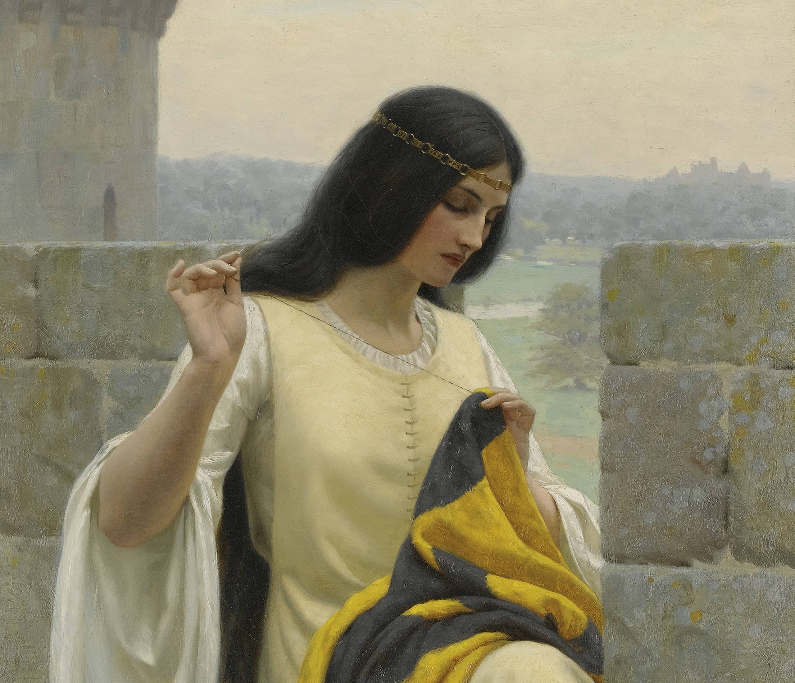Wallpaper edmund blair leighton, english painter, romanticism, pre ...