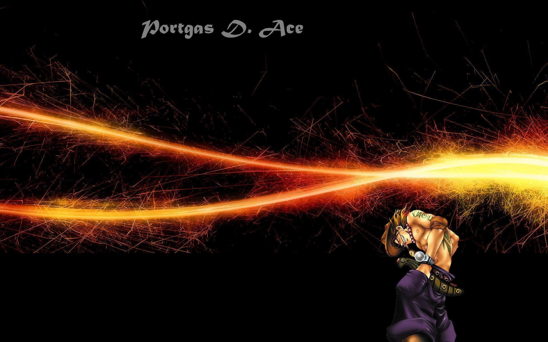 one piece portgas d ace flame fist
