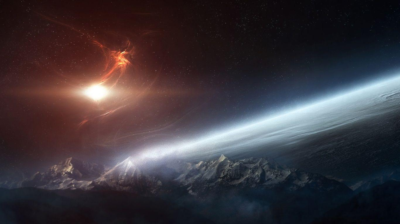 Pix For > Hd Wallpapers 1366x768 Space
