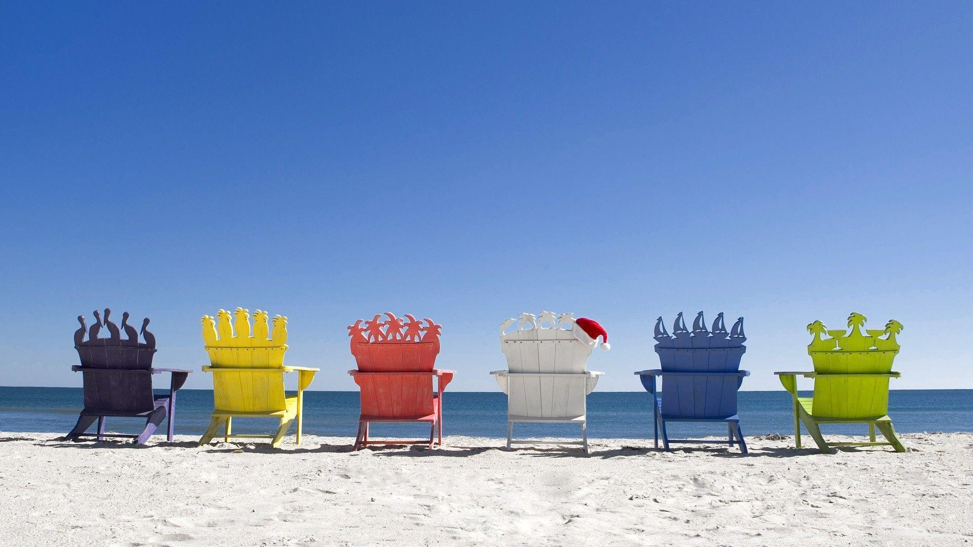 2 beach chairs on the beach - Beaches With Chairs Wallpaper Viewing Gallery