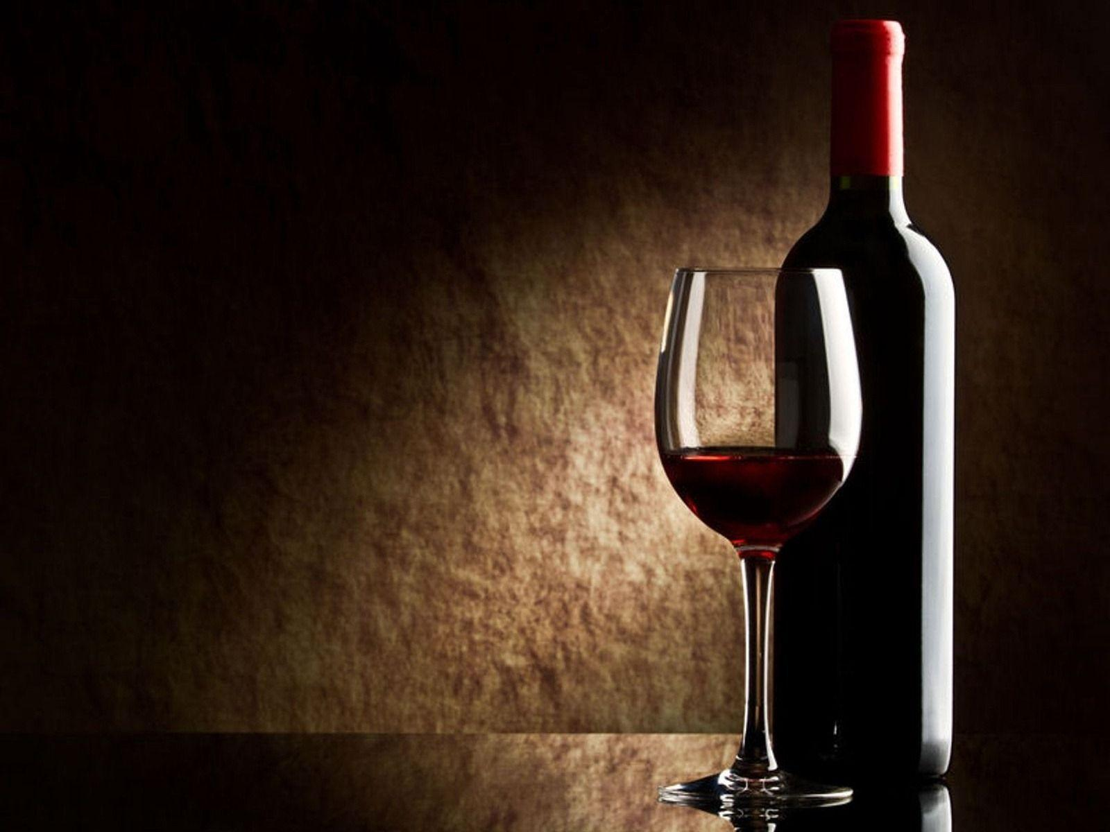 Red Wine Glass Wallpaper