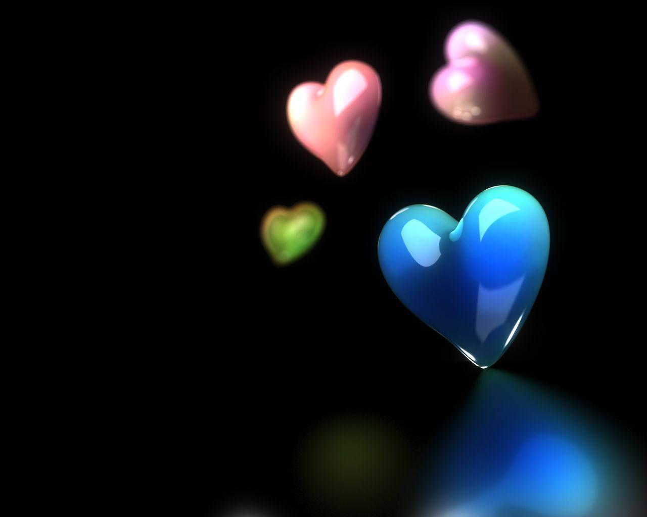 Hearts with black backgrounds wallpaper cave for Desktop animati gratis