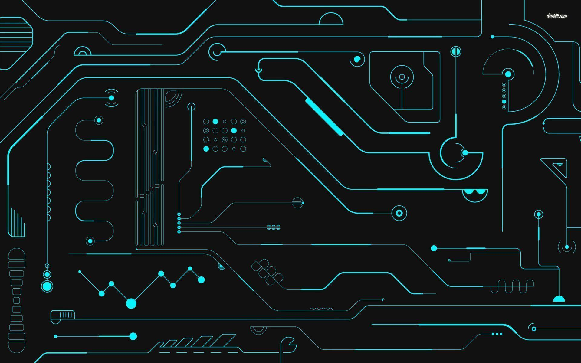 Wallpapers For > Abstract Circuit Board Wallpapers