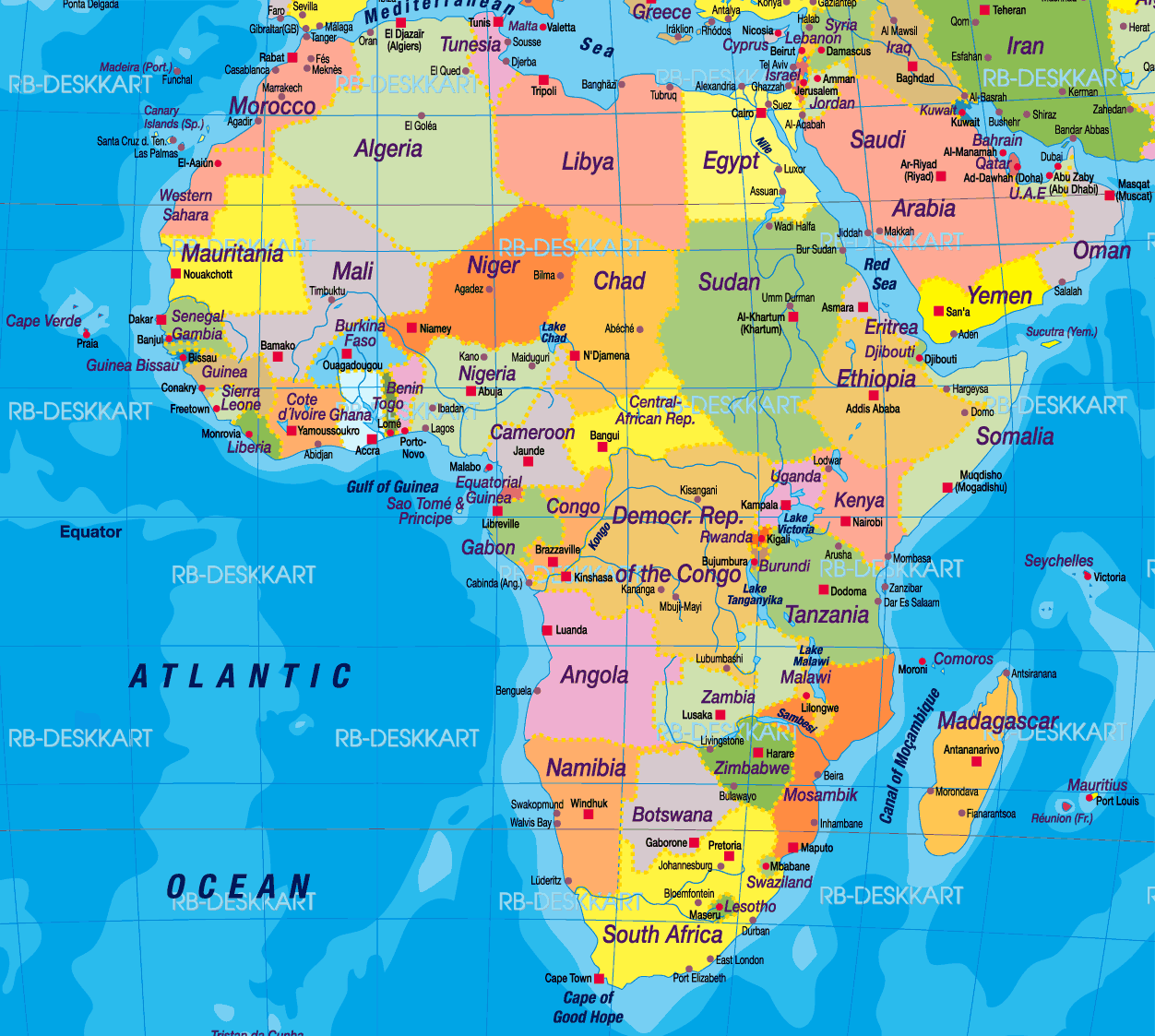 Desktop Wallpaper World Map: Africa Map Wallpapers