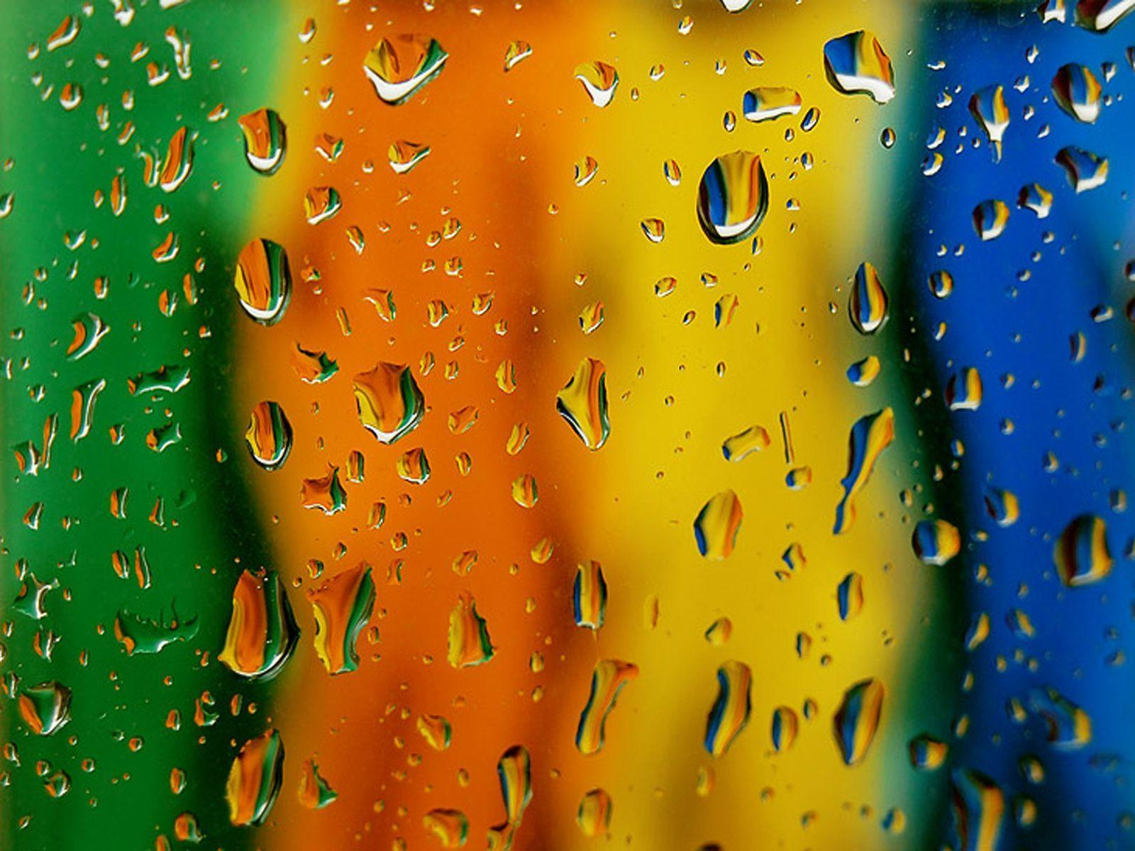 Colorful Drops Wallpapers 3D Abstract For Mobile