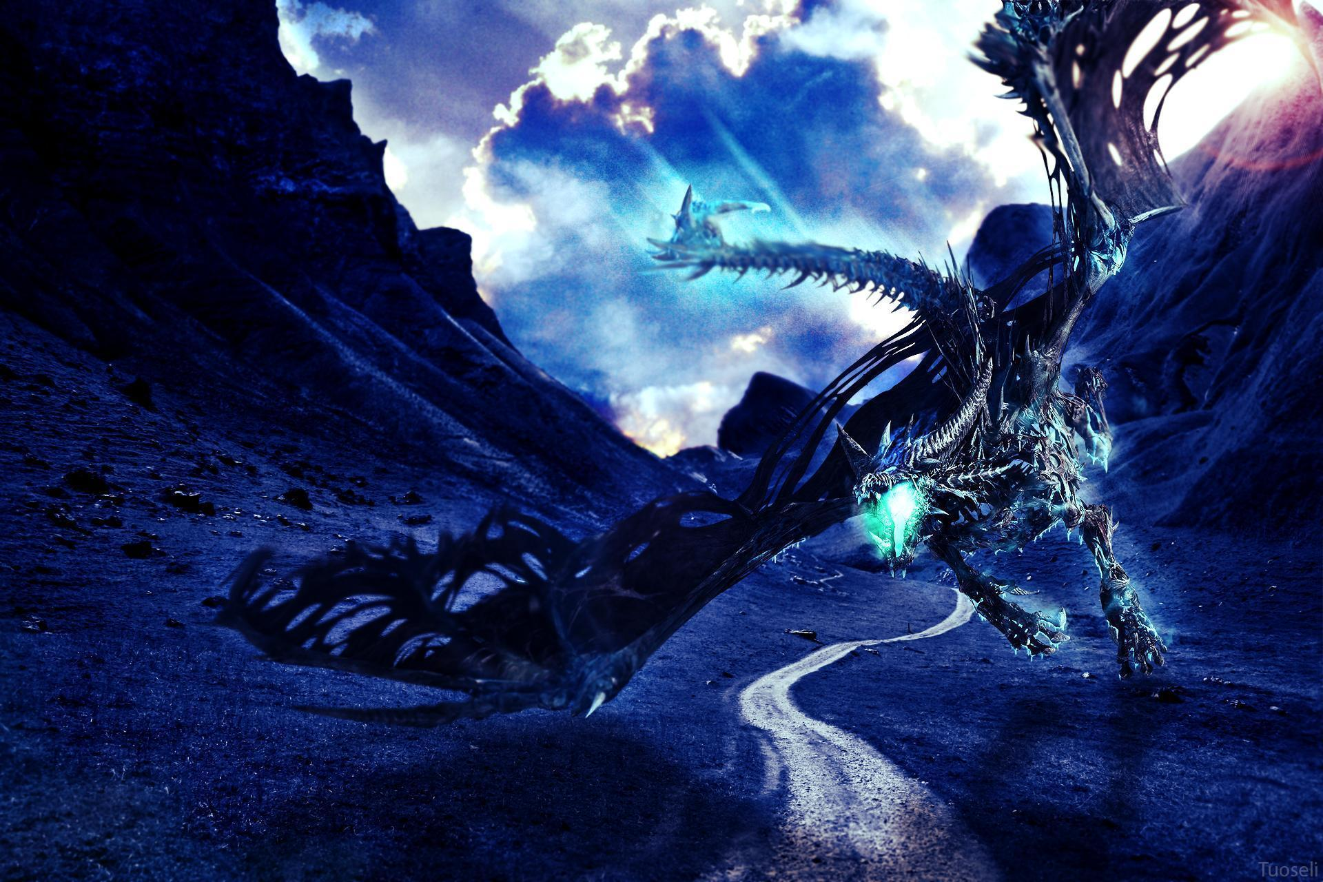 Blue Dragon Wallpapers by Tuoseli