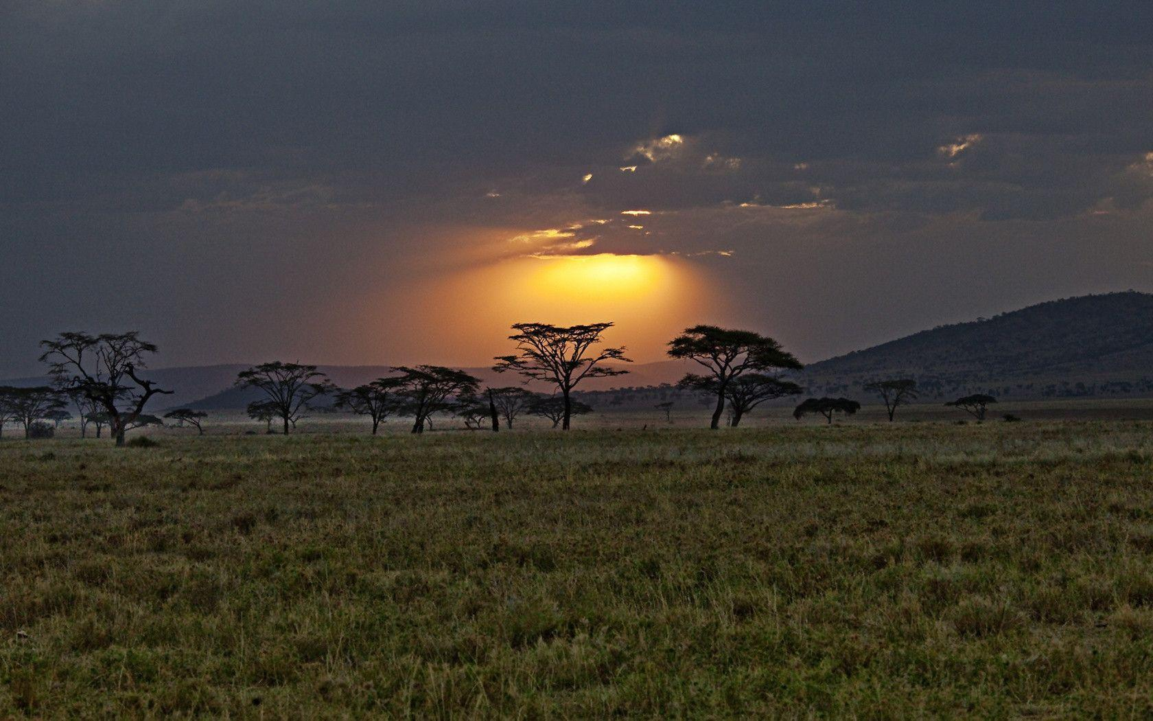 1680x1050 Sunset kenya africa Wallpaper