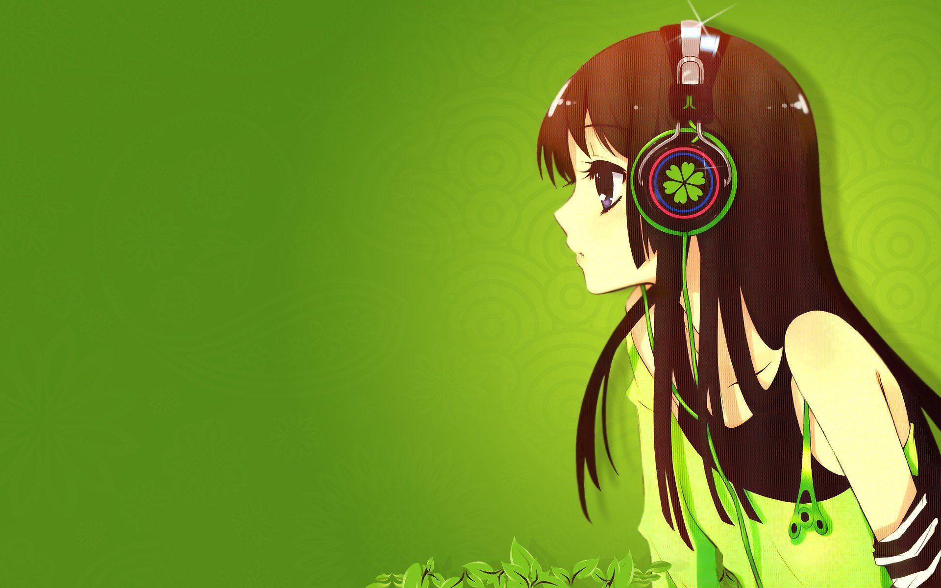 Cute Anime Girl With Headphones Wallpapers HD Id